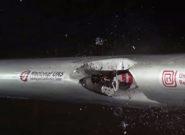 لحظه برخورد یک پهپاد با بال هواپیما در سرعت ۳۳۰ کیلومتر بر ساعت