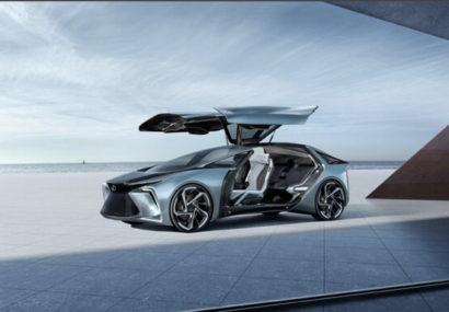 لکسوس از طرح اولیه خودرو برقی مجهز به پهپاد رونمایی کرد