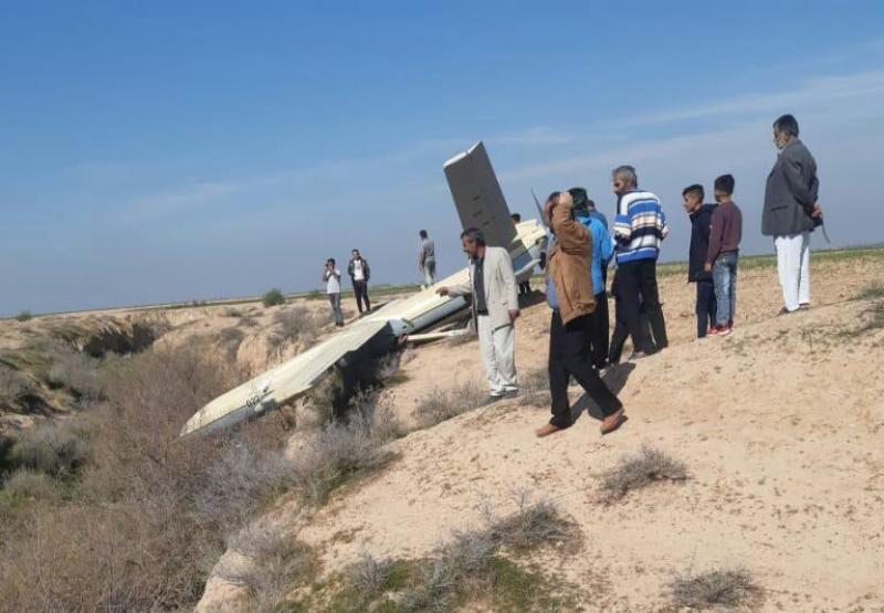 سقوط پهپاد در یک روستای شهرستان باوی خوزستان