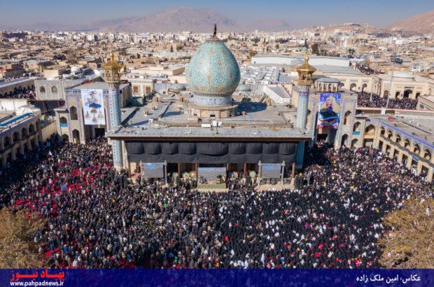 مراسم گرامیداشت سردار سپهبد حاج قاسم سلیمانی و همرزمان شهیدش در شیراز