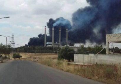 حمله پهپادی تروریستها به یک نیروگاه برق در حماه سوریه
