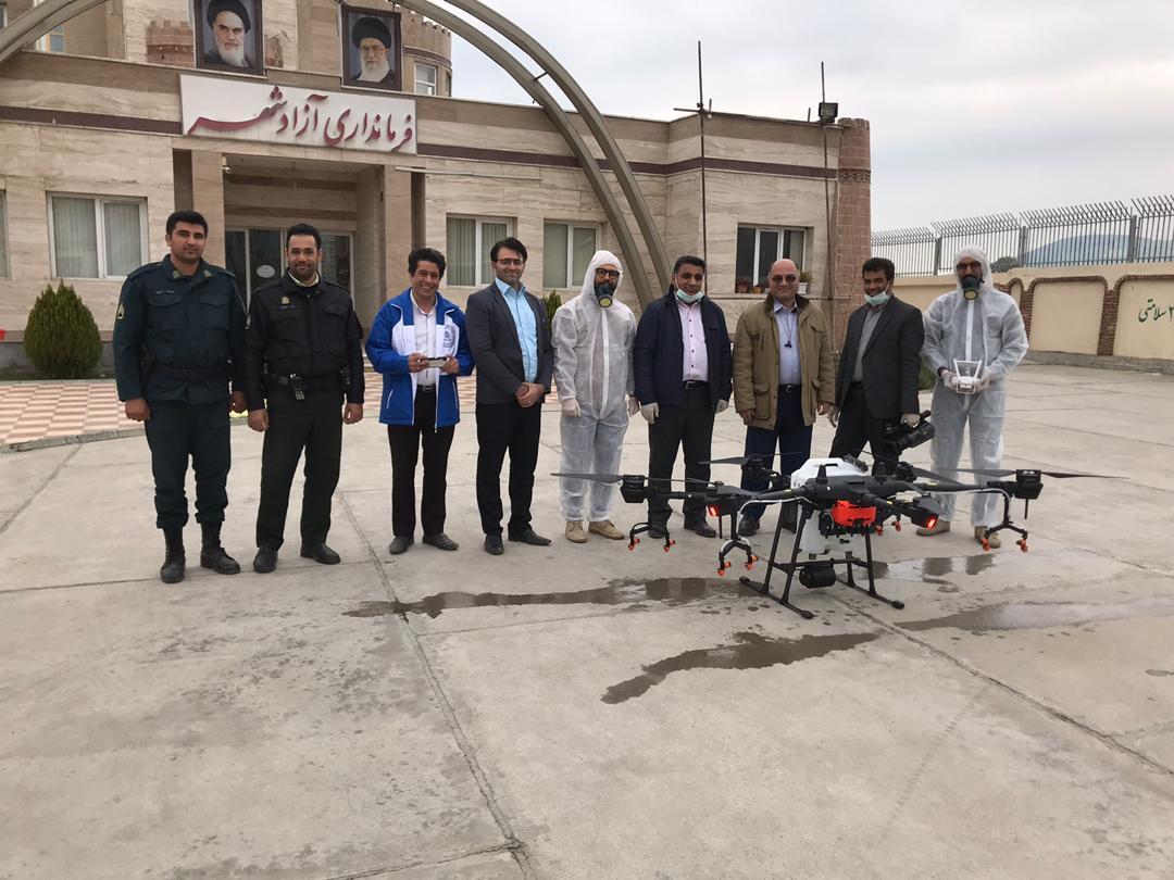 آغاز عملیات ضدعفونی کردن برخی مراکز استان گلستان بوسیله پهپاد