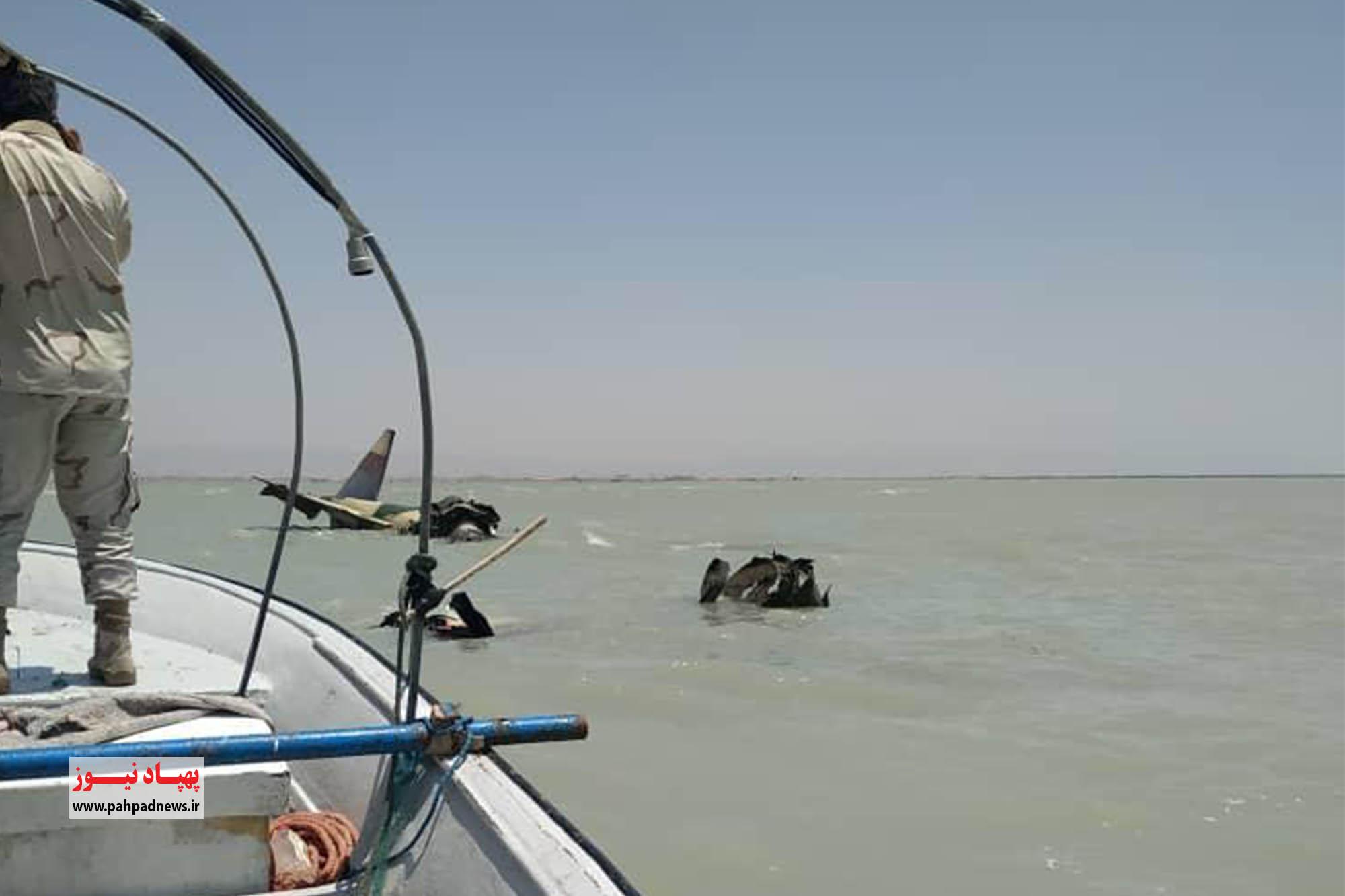 یک فروند هواپیمای نظامی در ساحل تنگستان سقوط کرد