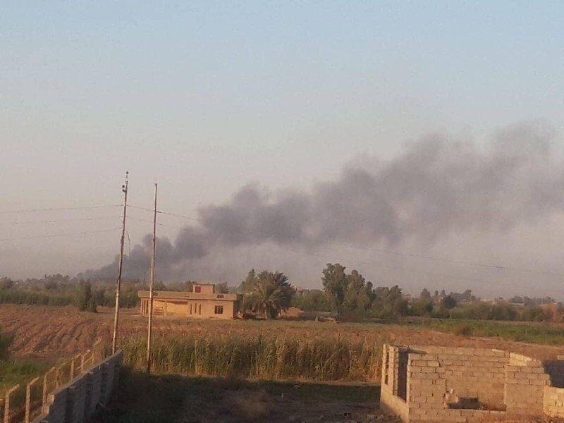 انبار مهمات الحشد الشعبی عراق هدف بمباران هوایی قرار گرفت