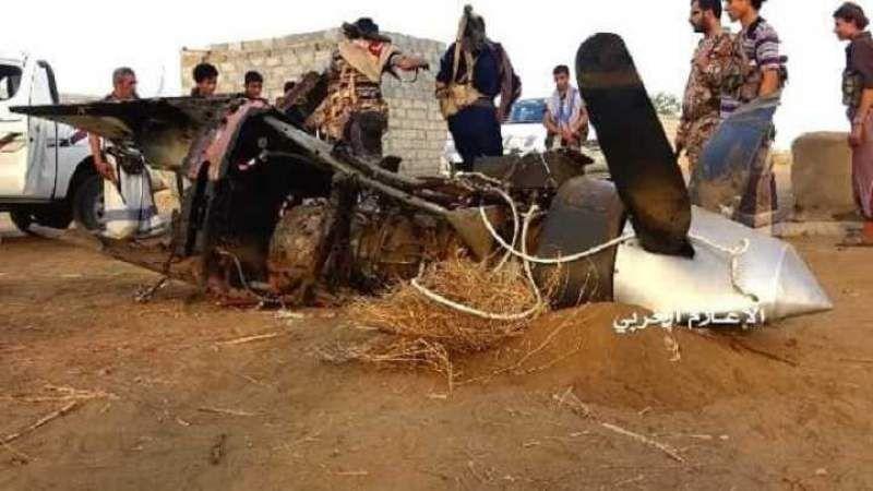 پهپاد ائتلاف متجاوز سعودی در غرب یمن سرنگون شد